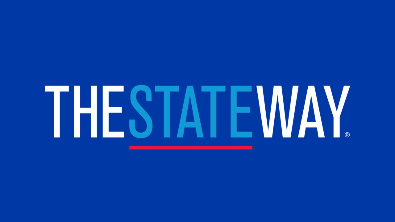 Example of social media graphic with stylized words THESTATEWAY