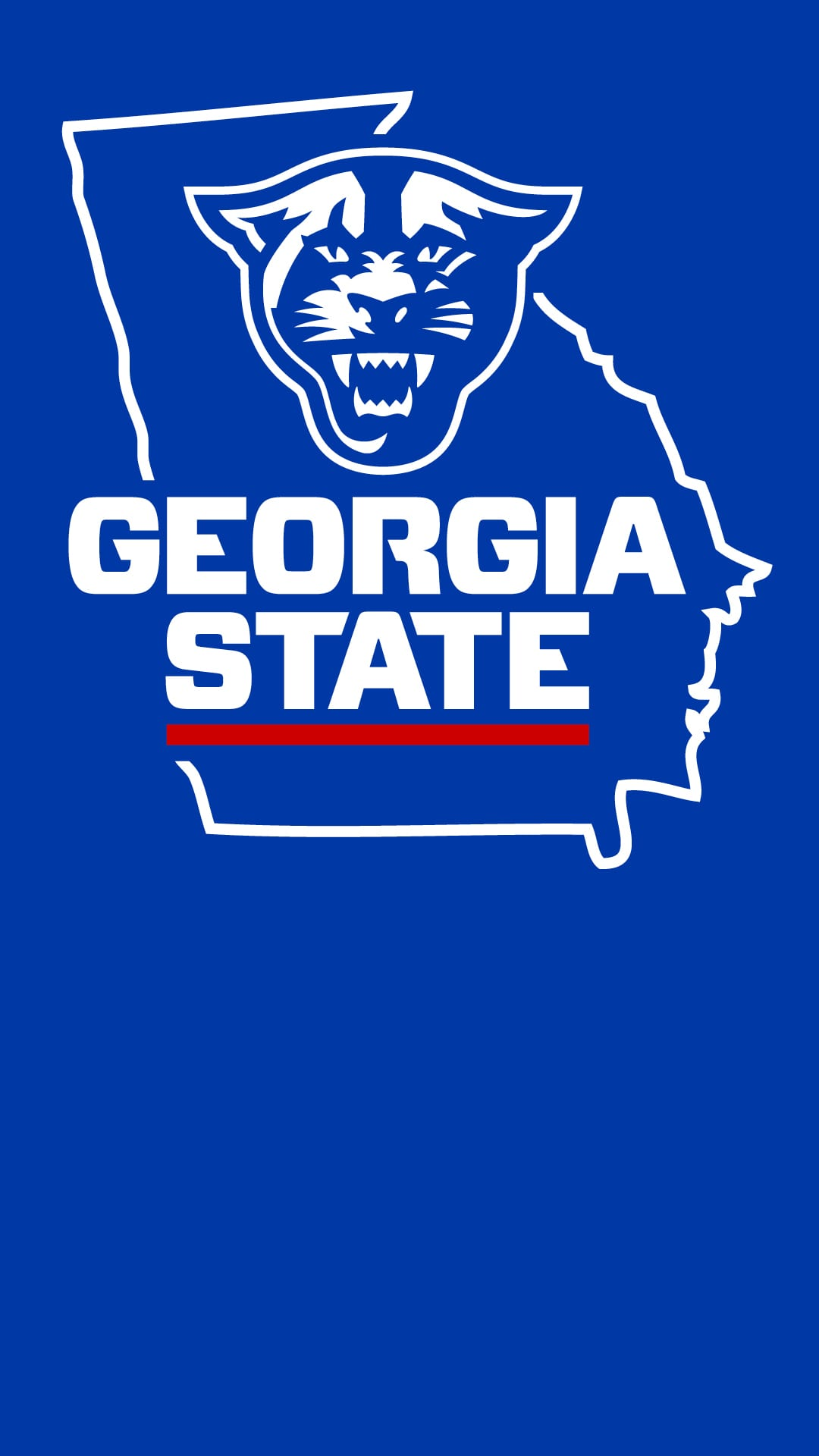Vertical Image with Athletic logo on state of Georgia outline