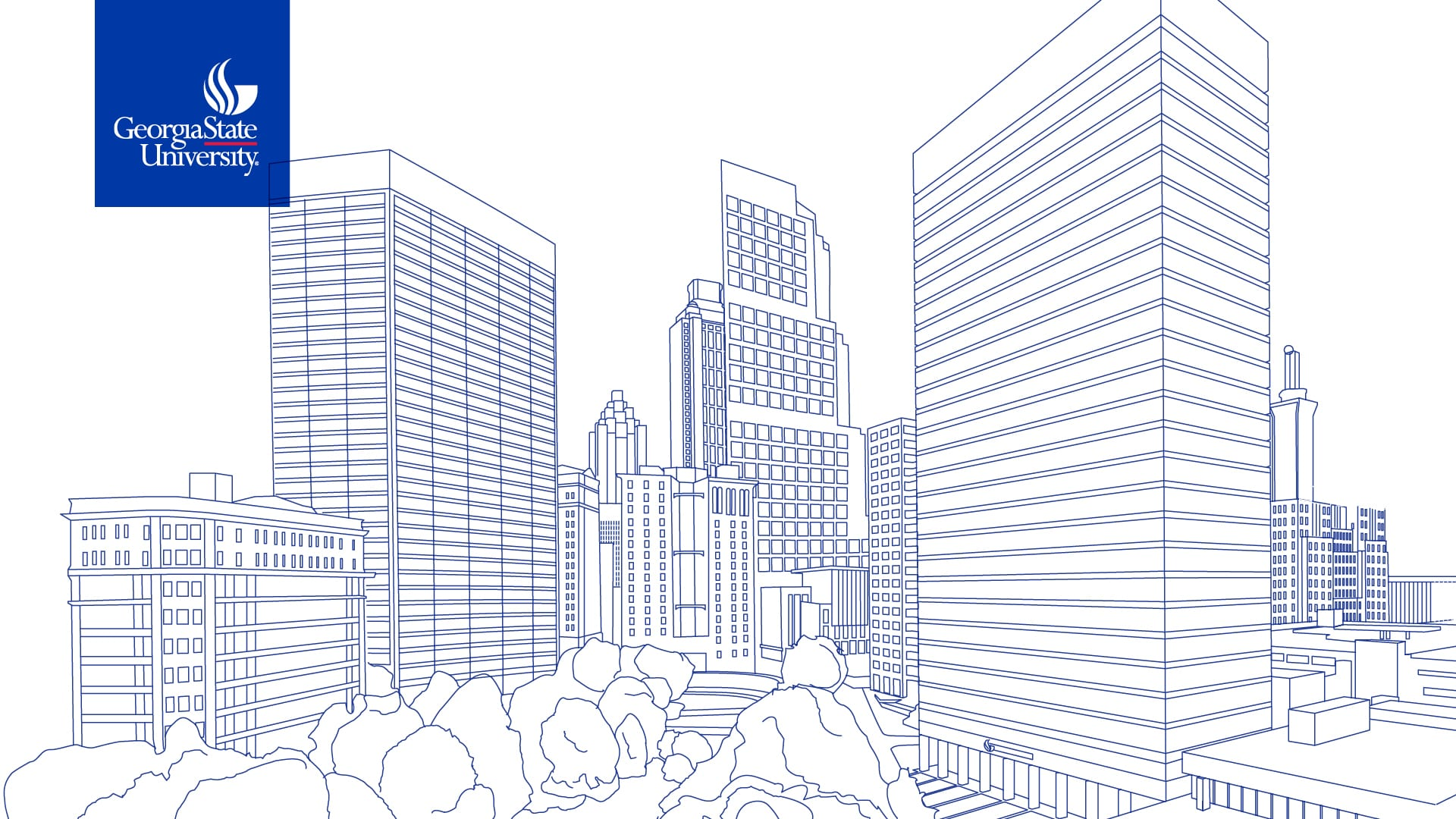Sketch of Atlanta Skyline