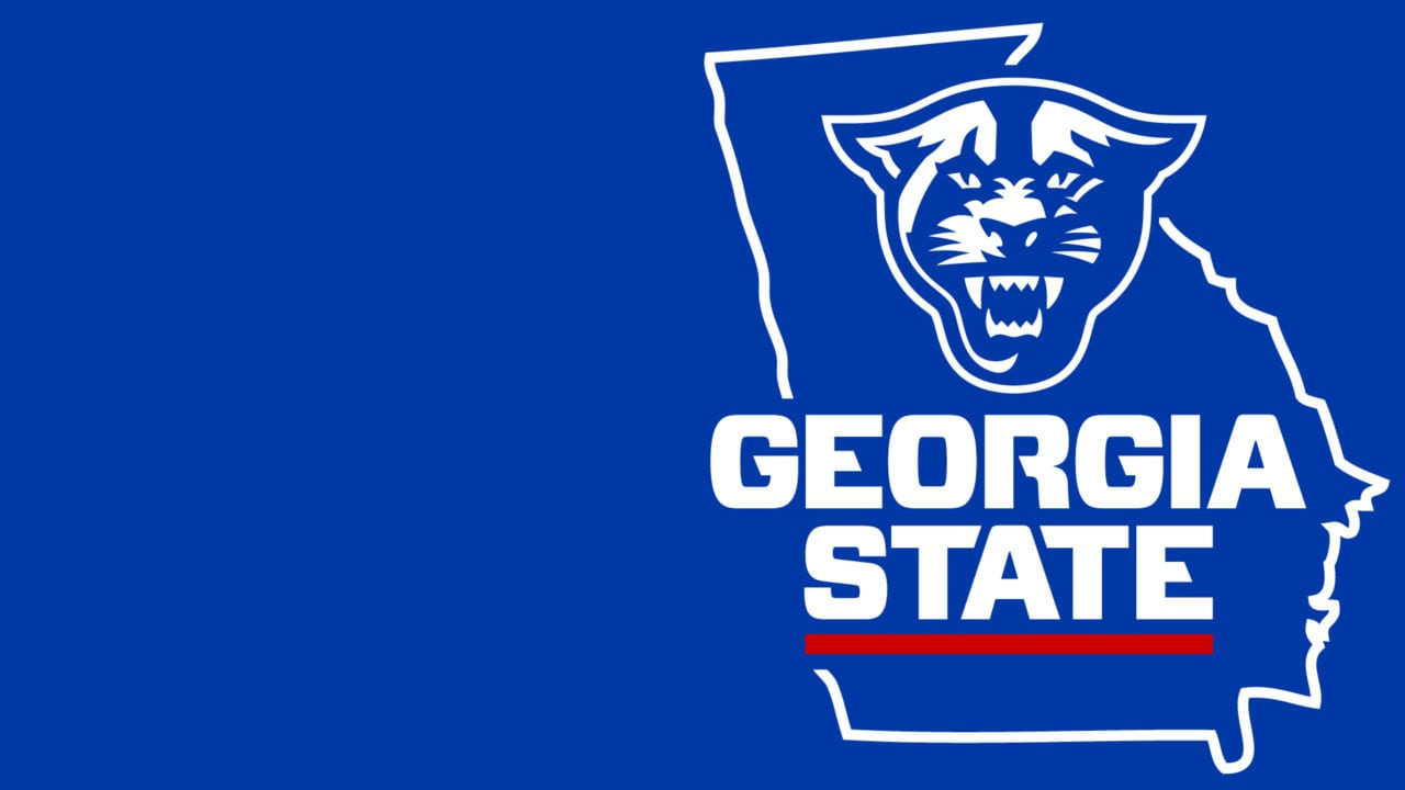 Athletic logo on state of Georgia outline